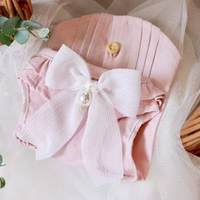 Romantic Pin tuck-PINK