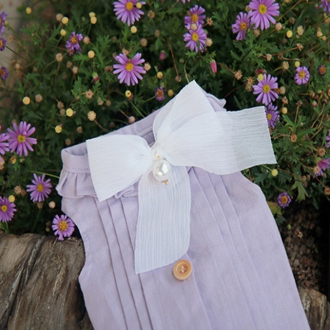 Romantic Pin tuck-LAVENDER